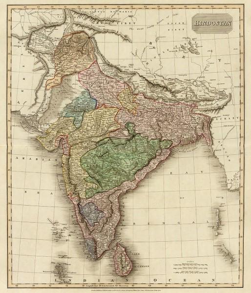 Historischen Karten - Hindustan